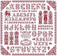 Antiquity Sampler kruissteek merklap van Clorami Designs www.clorami-designs.be