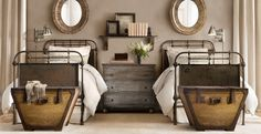 Incredible Rustic Kids Bedrooms ➤ Discover the season's newest designs and inspirations for your kids. Rustic Kids Rooms, Rustic Room, Cabin Beds For Kids, Deco Kids, Guest Bedrooms, Twin Bedroom Ideas, Twin Room, Rustic Bedrooms, Bed Room