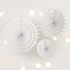 Snowflake Paper Decorations | Christmas |The Little White Company