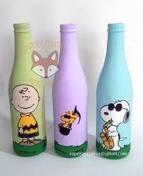 painted glass, garrafas pintadas, botellas pintadas