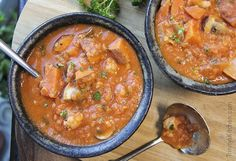 Oh my goodness, this is delicious! I've made so many different versions of this soup, it is perhaps the one thing I eat more than anything else, whether home or away. It's a thick and s…