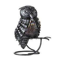 Öinen pöllö -somiste Kynttiläpurkille