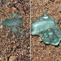 On left as found in the sand. Love this detailed piece of sea glass #seaglass #seaglasshunting #seaglassaddict #beach #beachcombing