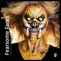 Basic Face Painting - Book by Brian Wolfe Halloween Face Paint Scary, Alien Halloween Makeup, Scary Face Paint, Halloween Art, Alien Makeup, Halloween Costumes, Body Painting Artists, Face Painting Stencils, Face Painting Tips