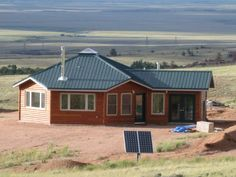 This is an update of another Sand Creek Park Solargon Sand Creek is an off grid community in northern Colorado. The owners Carrick and Sarah live in Wyoming but retreat to their eco-friendly cabin to get out of town. Off Grid Communities, Round House Plans, Garage Apartments, Building Systems, Lisa, Modern House Design, My House, Electrical Grid, Real Estate