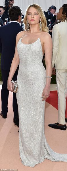Shimmery chic: Actress Haley Bennett was literally sparkling while Moda Operandi co-founde...