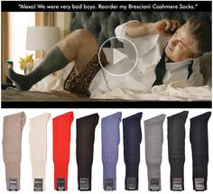 As Seen on Alec Baldwin in the famous Super Bowl commercial Simply the World's Finest Cashmere Sock!