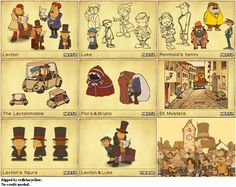Professor Layton Concept Art from Professor Layton and the Curious Village