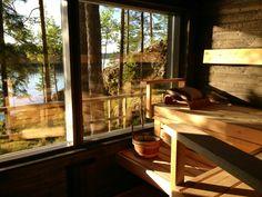 Finnish summer cabin sauna