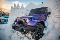 Snow sculpture for Jeep at the 2016 ESPN X Games in Aspen, CO