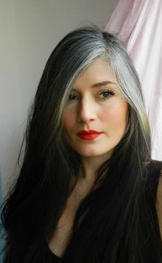 Image result for grey hair highlights around face