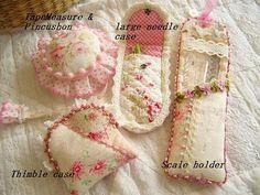 Needle case, pin cushion, thimble case