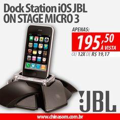 PROMOÇÃO LIMPA ESTOQUE! Dock Station iOS JBL ON STAGE MICRO 3 Garanta Já:  #chinasom #dockstation #ios #apple #iphone #jbl #jblaudio