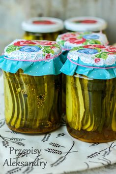 Pickled sandwich cucumbers / ogórki kanapkowe