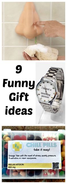Humorous gift ideas for spouses that like to laugh. These are funny on any occasion!