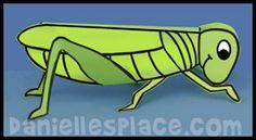 Grasshopper Craft from www.daniellesplace.com