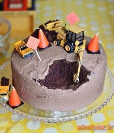 I like the digging part of this cake into like another dump truck.