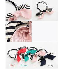 Fashion Multi Layer Black Elastic Ribbon Striped Bow Hair Bands Womens Hair Accessories for women Four seasons Style 6124