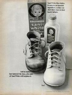 Hollywood Sani-White Shoe Polish (1966)