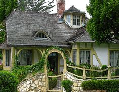 Carmel-by-the-Sea.. Fairy Tale Cottages.. I took my daughter here to see the FairyTale Cottages.. they were scattered around this part of Carmel, but very interesting when you drive past one.. Next time we go we are going to map it out first and that way we can see them all.. Carmel-by-the-Sea was a very awesome place.. We loved it!