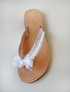 #sandals #bridal #lace #pearls #marmade