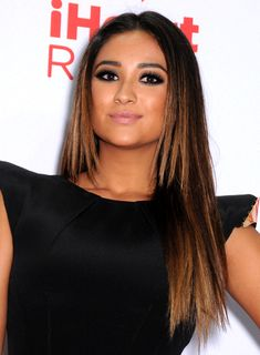 Shay Mitchell's Long, Straight, Brunette, Formal Hairstyle