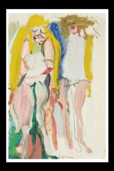 "Willem De Kooning - ""Women singing I"", 1966 - Oil and Charcoal on paper laid down on canvas - 91,4 x 60,9 cm (*)"