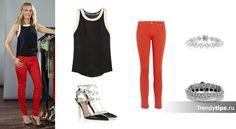 С чем носить красные джинсы?