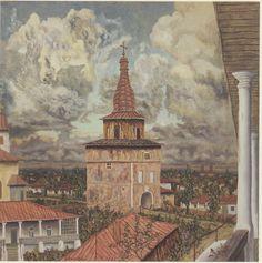 Paris Skyline, Tower, Bucharest Romania, Artist, Painting, Travel, Paris France, Pocket, Rook