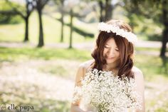 カスミソウ×芝生×ピクニックな前撮り の画像|*elle pupa blog*