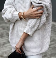 An oversized sweater is our favorite grab and go piece.
