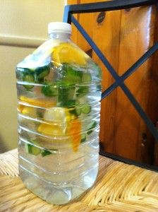 DIY: Spa water to the rescue! #MyVeganJournal