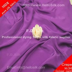 www.silkfabricwholesale.com/  F.D. silk most professional 14mm silk crepe de chine fabric-purple supplier.
