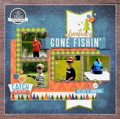 Gone Fishing Scrapbook Layout by Christine Meyer for Paper House Productions