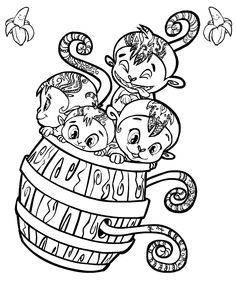 Monkey Coloring Pages Free Coloring Pages For KidsFree Coloring