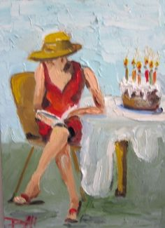 birthday paintings | Painting of the Day, Daily Oil Paintings by Delilah