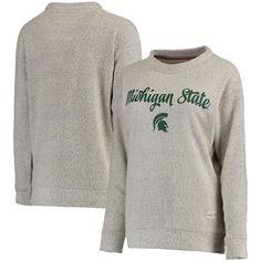 Michigan State Spartans Pressbox Women's Comfy Terry Crew Sweatshirt - Cream - $54.99