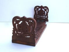 1970s Desktop Book Stand Vintage Bookslide With Decoration Vintage Book Stand…