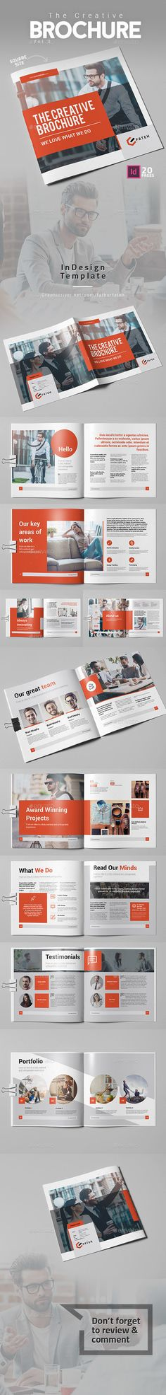 The Creative Brochure Vol.3 Square — InDesign INDD #clean #marketing • Download ➝ https://graphicriver.net/item/the-creative-brochure-vol3-square/19599367?ref=pxcr