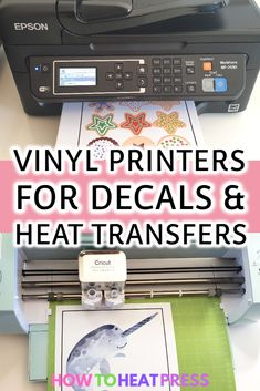 The Best Vinyl Printer – Print Your Own Decals & Heat Transfers! What is the best vinyl printer? Come and see all the options you have for printing on heat transfer vinyl and adhesive sticker vinyl! Best Inkjet Printer, Sticker Printer, Sticker Vinyl, Wall Vinyl, Printer Scanner, Laser Printer, Wall Stickers, Wall Decals, Wall Art