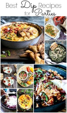 These are some of the best dip recipes for superbowl parties, holiday gatherings like Thanksgiving, Christmas and New Year's eve parties! Your guest will love munching on these amazing party dip recipes!