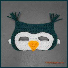 Crochet Tutorial: Owl Mask | YARNutopia by Nadia Fuad