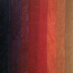 Deep, rich purple gradates through burgundy, red, burnt orange and golden ochre.Eight-step Gradation:$32.00 Fat Quarter Bundle$64.00 Half Yard Bundle$120.00 Full Yard BundleHand Dyed 100% CottonDye lots may varyMachine washable in SynthrapolSingle colors available as yardage: Salsa, Barn Red, Eggplant