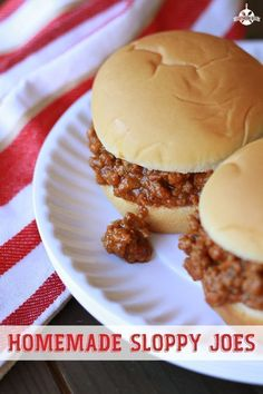 Homemade Sloppy Joes are easier than you think. This recipe will have supper on the table in no time flat and have you feeling as though you were back in your mommas kitchen as a kid. #recipes #easy #maindish #sloppyjoe