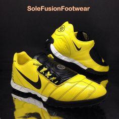 6bf603ac04c6d6 Nike Mens TOTAL 90 Football Trainers Yellow Black sz 8 SHOOT II Shoes 42.5  US 9