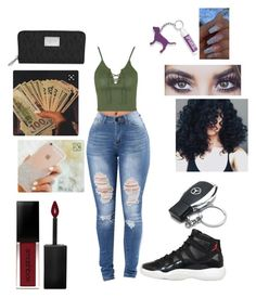 """""""Untitled #405"""" by yagirlnini on Polyvore featuring beauty, Topshop, NIKE, Smashbox, Mercedes-Benz, Victoria's Secret and Michael Kors"""