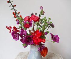 Un bouquet local de fleurs de Montréal.