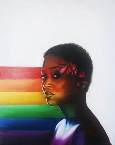 Gorgeous rainbow pride painting <3