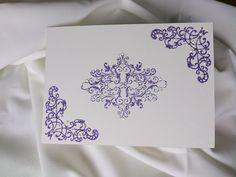 Romantic card size 15,5 x 11 cm