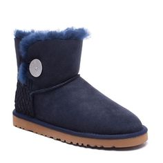 UGG Boots Mini Bailey Button Scale 1007538 Navy